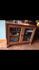 Sturdy Ikea oak tv unit