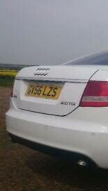 Audi A6 White C6 2.0 TDI SE 4dr Saloon Diesel Tinted Back Windows HPI Clear