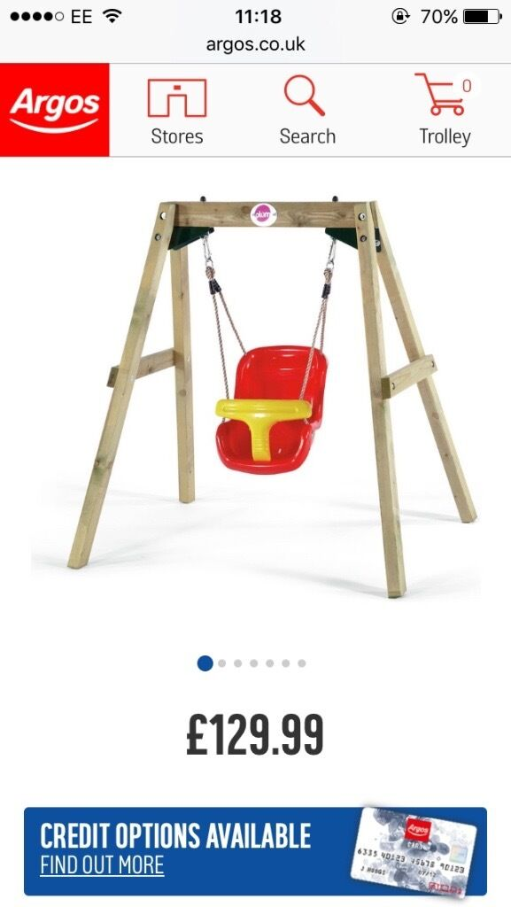 Plum child swing