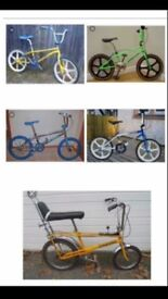 Wanted old school bmxs from the 1980s and 1990s in any condition!!