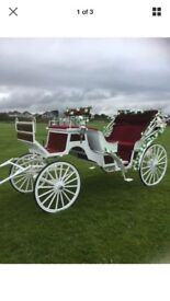 Beautiful horse drawn carriage , ideal for weddings etc