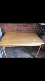Rubber wood table and chairs