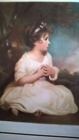 Picture of beautiful girl-Joshua Reynolds engraving-fantastic quality.Make super Xmas present