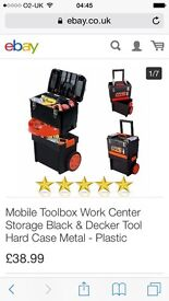 Black and decker tool box and trolley