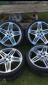 """Porsche alloy Wheels 19"""" replica with tyres x4"""