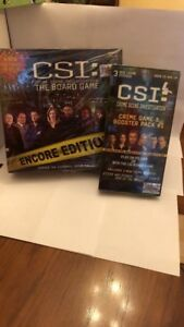CSI Board Game With Booster Pack All Sealed