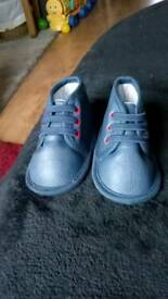 0-3 months navy blue shoes