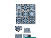 Tapestry blue patterned tiles (33cm by 33cm)