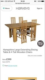 Hampshire extendable table