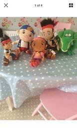 4 Disney Jake & Neverland pirates teddies