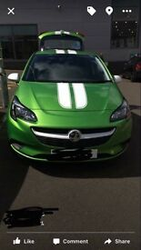 Fantastic 1 year old green Vauxhall corsa