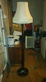 Lamp and shade.