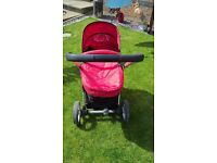 Petite Star red pram pushchair buggy