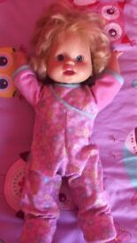 Fisher price walk and giggle doll