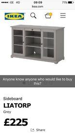 Grey sideboard Ikea 3months old