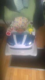 Baby walker car 3 heights plus feeding table