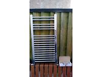 Chrome Towel Radiator and fixings