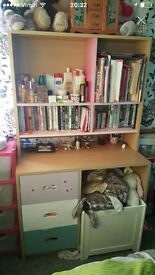 Childs drawers and shelf unit