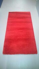 Ikea Adum, Rectangular Rug in Red, High Pile 80cm x 150cm