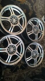 4x16 alloywheels for sale or swop for steelwheels with good tyers to fit mondeo 5stud