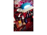 Gel Nails Bundle Ideal For Nail technician Incl 12 Opi Gel Polish & Uv Lamp And 6 nail polishes