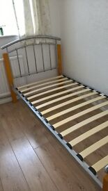 Single Bed frame. Metal and Wood