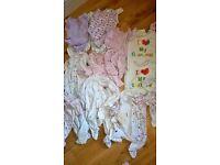 Girls baby grows bundle 0-6 mths