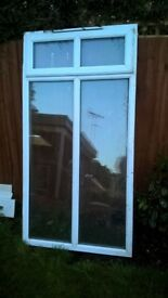 2 no UPVC 1042mm wide x 2020mm high ,double glazed full height windows
