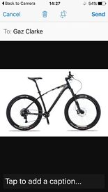 Mountain bike ridden very little as new Rrp £1000 will take 400 ono