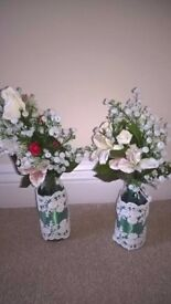 10 x decorative artificial wedding flowers