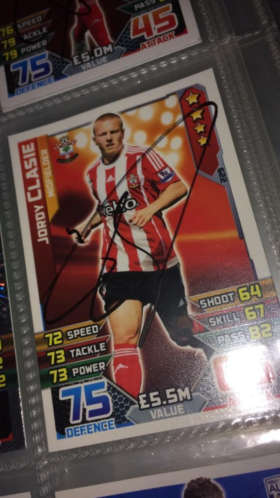 100% real signed match attax