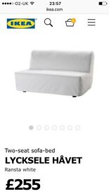 Unused ikea two seat sofa bed available immediately!