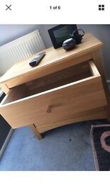 Bedside Cupboard Oak