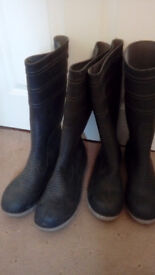 Steel toe cap safety wellington boots . size 8 & 11