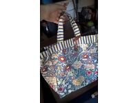 V and A floral shopping bag