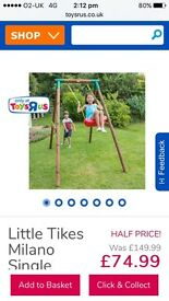 BRAND NEW little tikes swing