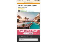 2 x All Inclusive Holiday to Mexico for 10 nights in Royal Hotel Playa Del Carmen Mexico 12/03/18