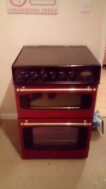 A free standing double glass fronted oven for sale