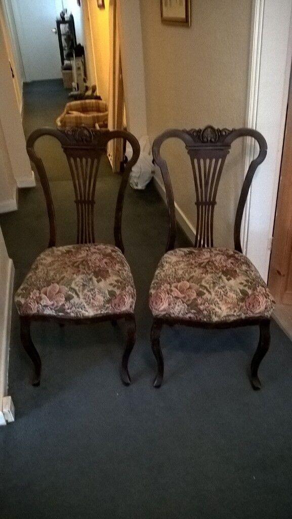 Pair of Antique chairs - Pair Of Antique Chairs In Romsey, Hampshire Gumtree