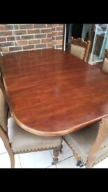 Dining table 8 extended. Lille & Gambier great condition. Can throw 6 chairs in