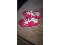 Infants Red VANS Size 4