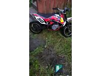 50cc motorcross bike lovely bike only driven couple of time great fun