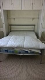 double bed hardly used £50.00, red and black tv unit with light £25.00