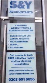 Tax Return from £75, Self Assessment, CIS Rebates,Tax Refund, VAT, Payroll, Accountant, Bookkeeping