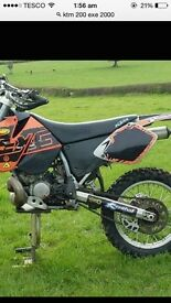 KTM 200 EXC road registered not KXF rmz yzf crf quad