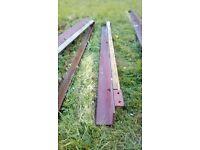 Steel Angle Beams 2 x 2.04m 1x 2.29m long