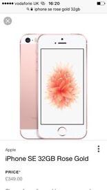 Rose gold iPhone se 32gb