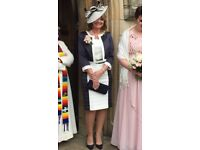 Mother of the bride navy and cream outfit