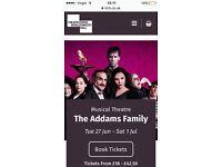 Adams Family theatre tickets