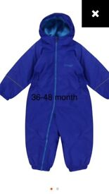 Boys 3-4 regatta blue waterproof puddlesuit